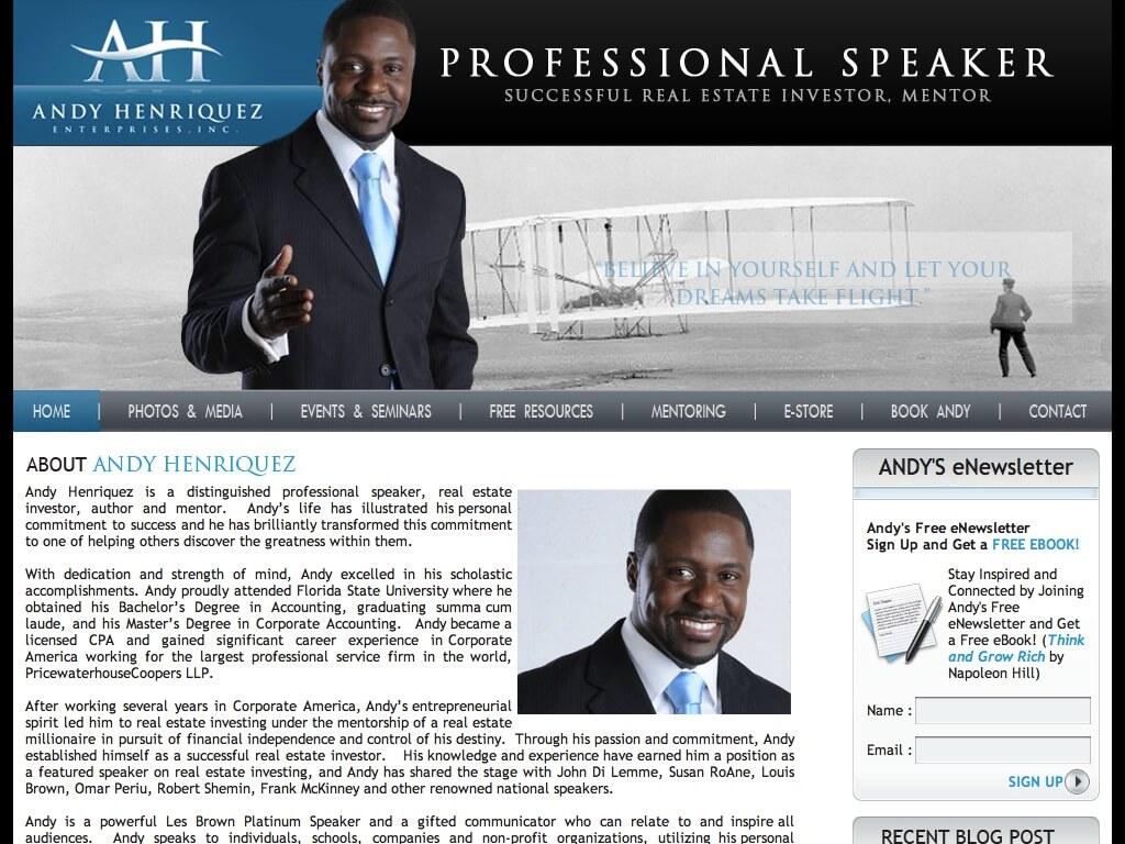 Andy Henriquez, Professional Speaker